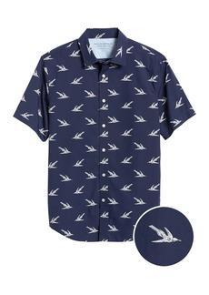 Banana Republic Slim-Fit Luxe Poplin Print Shirt
