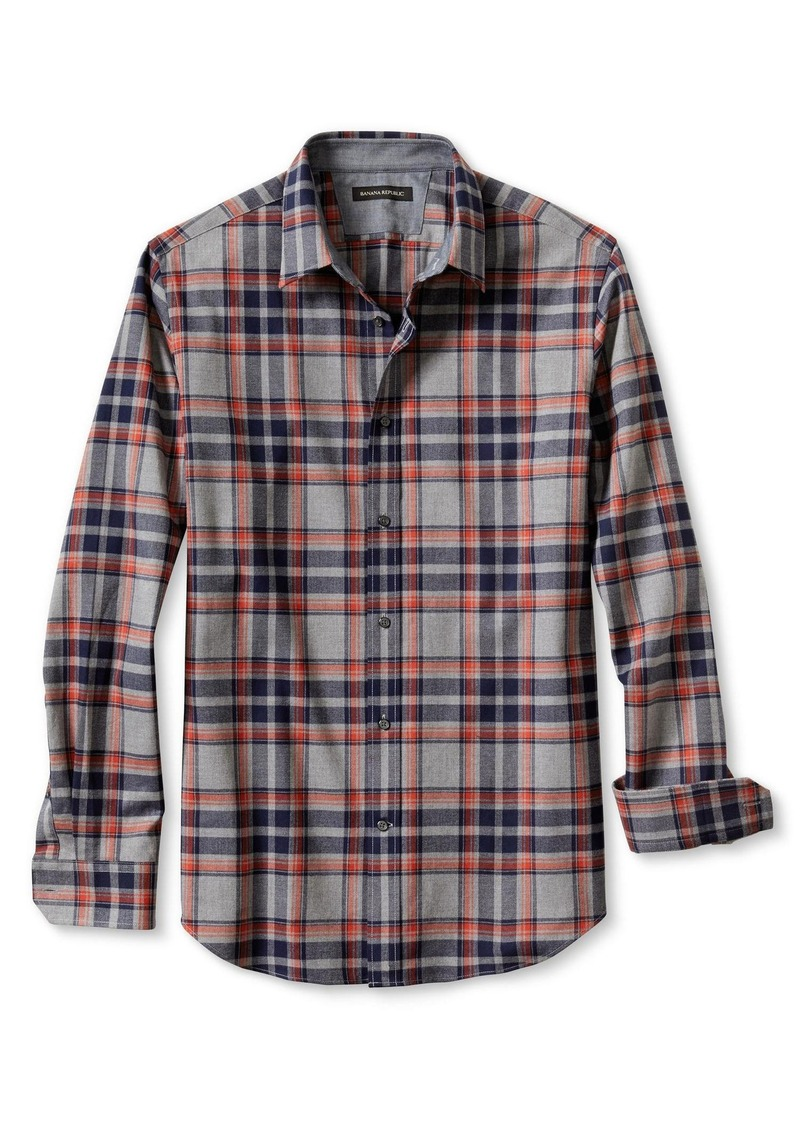 Banana Republic Slim-Fit Multi-Plaid Luxe-Brushed Twill Shirt