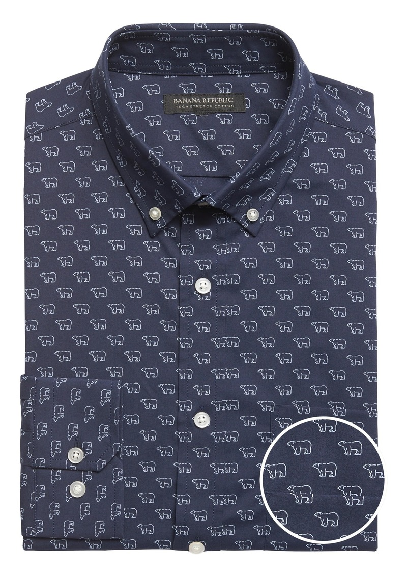 Banana Republic Slim-Fit Tech-Stretch Cotton Shirt