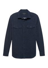 Banana Republic Slim Flannel Shirt Jacket