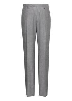 Banana Republic Slim Gray Pinstripe Italian Cotton Suit Pant