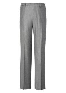 Banana Republic Slim Gray Pinstripe Italian Wool Flannel Suit Trouser