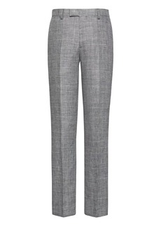 Banana Republic Slim Gray Plaid Linen Suit Pant