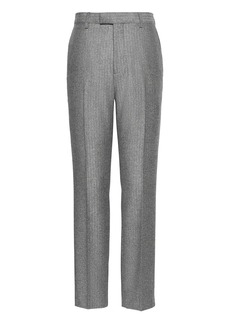 Banana Republic Slim Herringbone Italian Wool Flannel Suit Pant