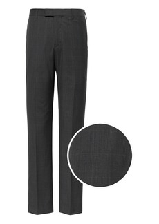 Banana Republic Slim Italian Wool Plaid Suit Pant