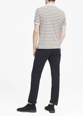 Banana Republic Slim Luxury-Touch Allover Stripe Polo