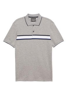 Banana Republic Slim Luxury-Touch Chest Stripe Polo
