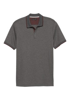 Banana Republic Slim Luxury-Touch Jacquard Collar Polo