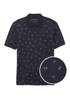 Banana Republic Slim Luxury-Touch Palm Print Polo