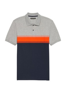 Banana Republic Slim Luxury-Touch Performance Chest Stripe Polo