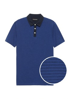 Banana Republic Slim Luxury-Touch Performance Contrast-Collar Polo