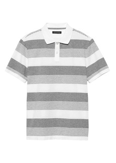 Banana Republic Slim Luxury-Touch Performance Stripe Polo