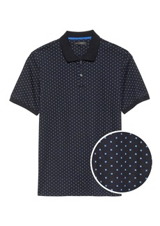 Banana Republic Slim Luxury-Touch Printed Polo