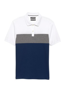 Banana Republic Slim Luxury-Touch Stripe Polo