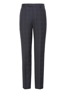 Banana Republic Slim Navy Plaid Italian Wool Suit Trouser