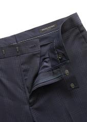Banana Republic Slim Plaid Italian Wool Suit Trouser