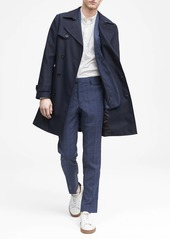 Banana Republic Slim Navy Plaid Italian Wool Suit Pant