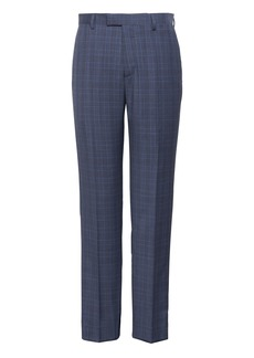 Banana Republic Slim Navy Plaid Italian Wool Suit Pant