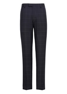 Banana Republic Slim Navy Smart-Weight Performance Wool Blend Suit Pant