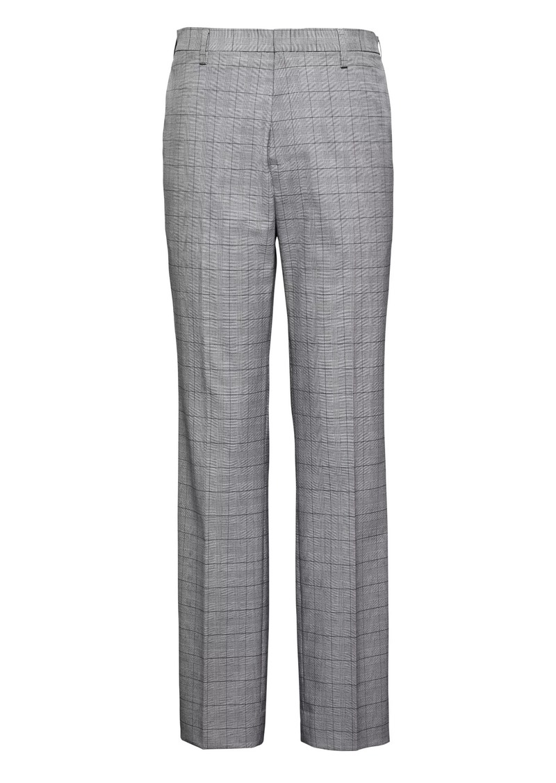 Banana Republic Slim Non-Iron Stretch Cotton Plaid Pant