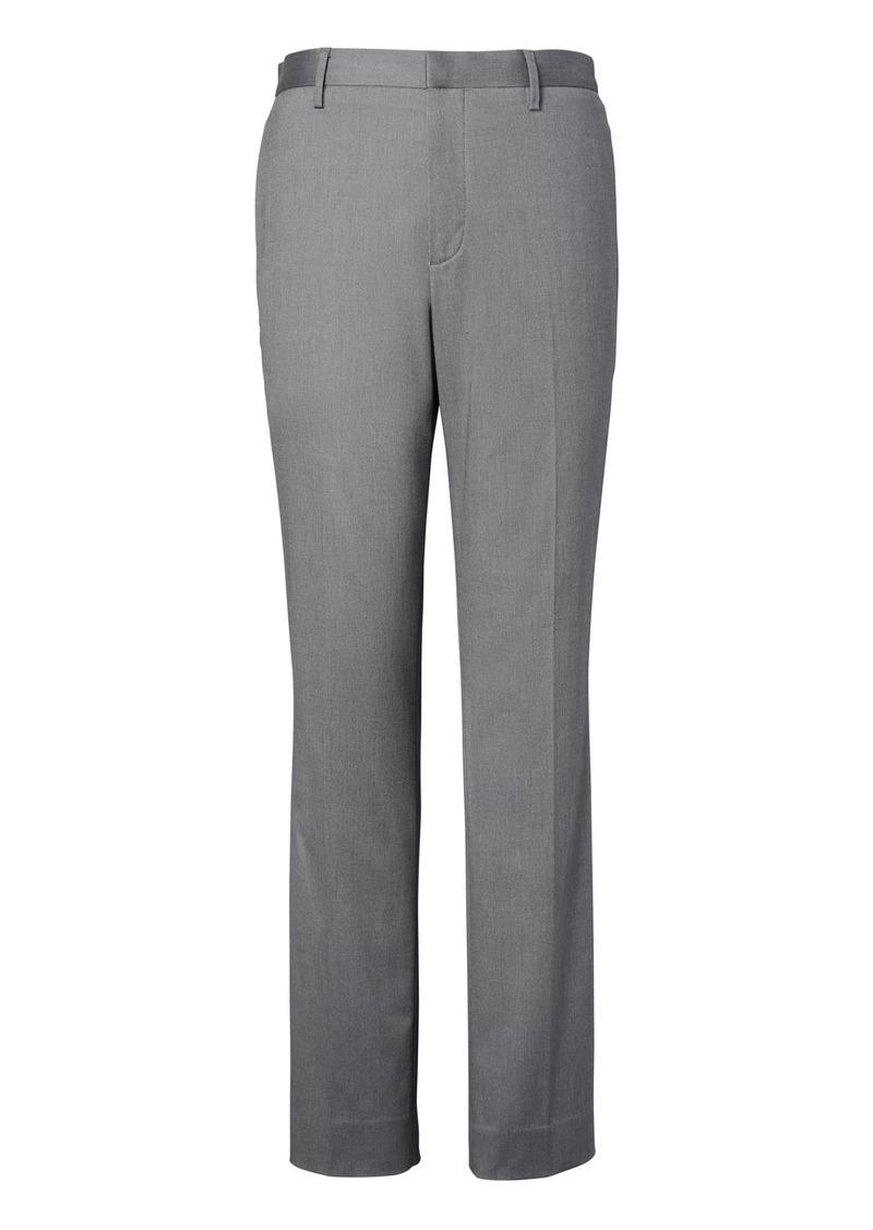 Banana Republic Slim Non-Iron Stretch Cotton Solid Pant