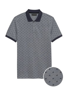 Banana Republic Slim Signature Pique Print Polo