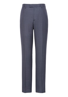 Banana Republic Slim Smart-Weight Performance Wool Blend Houndstooth Suit Pant