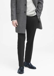 Banana Republic Slim Solid Italian Wool Suit Pant