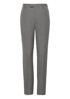 Banana Republic Slim Smart-Weight Performance Wool Blend Solid Suit Pant