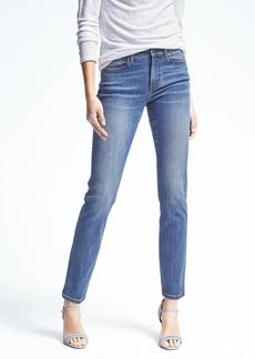 Slim Straight-Fit Light Wash Sculpt Jean