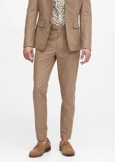 Banana Republic Slim Tapered Italian Cotton-Linen Suit Pant
