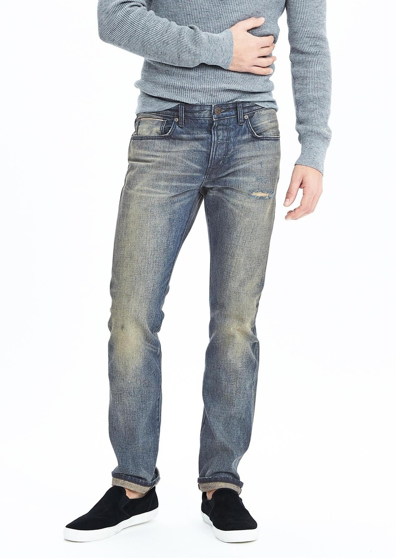 Banana Republic Slim Light Tinted Wash Kaihara Selvedge Jean
