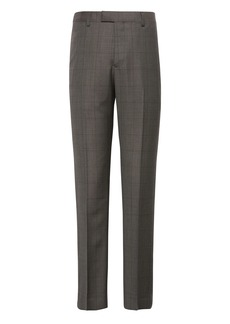 Banana Republic Slim Windowpane Italian Wool Suit Pant