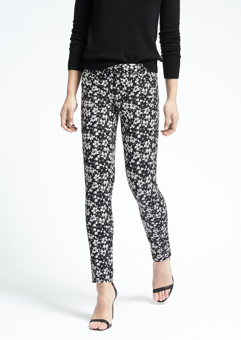 e4f5a88084656d Banana Republic Sloan-Fit Floral Print Pant Now $43.99