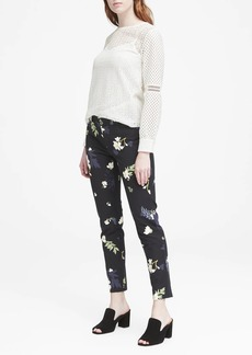 Banana Republic Sloan Skinny-Fit Petra Floral Ankle Pant