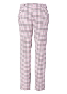 Banana Republic Sloan Skinny-Fit Plaid Zip-Pocket Pant