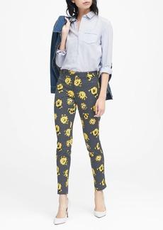 Banana Republic Sloan Skinny-Fit Polka Dot Floral Pant