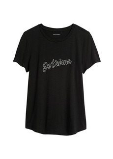 Banana Republic Slub Cotton-Modal Graphic T-Shirt