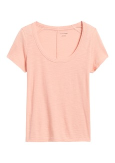 Banana Republic Slub Cotton-Modal Scoop-Neck T-Shirt