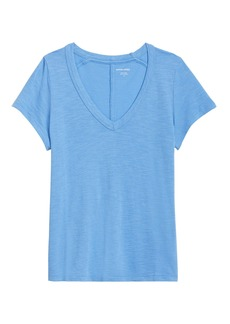 Banana Republic Slub Cotton-Modal V-Neck T-Shirt