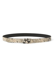 Banana Republic Snake-Effect Leather Trouser Belt