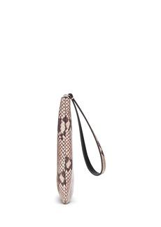 Banana Republic Snake Print Leather Wristlet Clutch