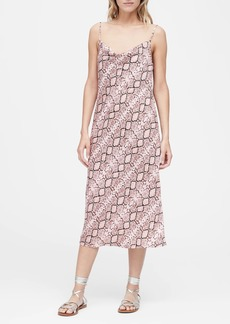 Banana Republic Snake Print Midi Slip Dress