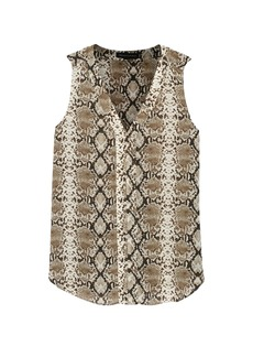 Banana Republic Snake Print Sleeveless V-Neck Top