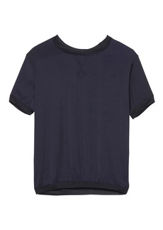 Banana Republic Soft Jersey Mixed-Media T-Shirt
