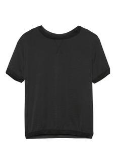 Banana Republic Soft Jersey Mixed-Media T-Shirt