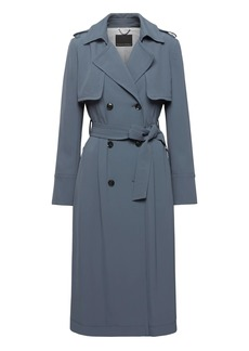 Soft Pleated Long Trench