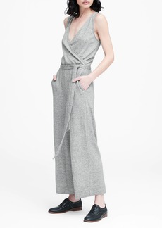Banana Republic Soft Ponte Cropped Jumpsuit