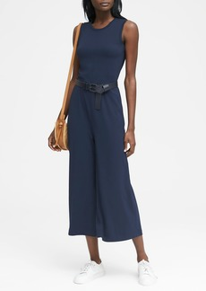 Banana Republic Soft Ponte Cropped Wide-Leg Jumpsuit