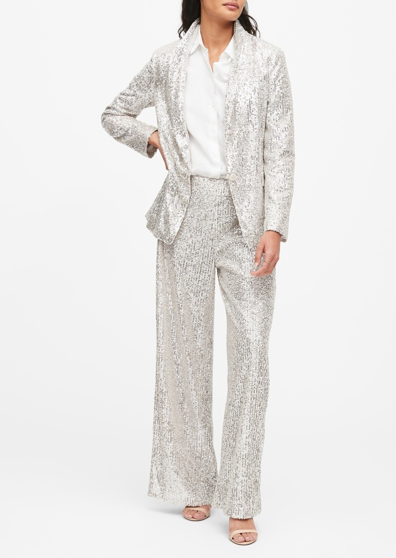 Banana Republic Soft Sequin Blazer